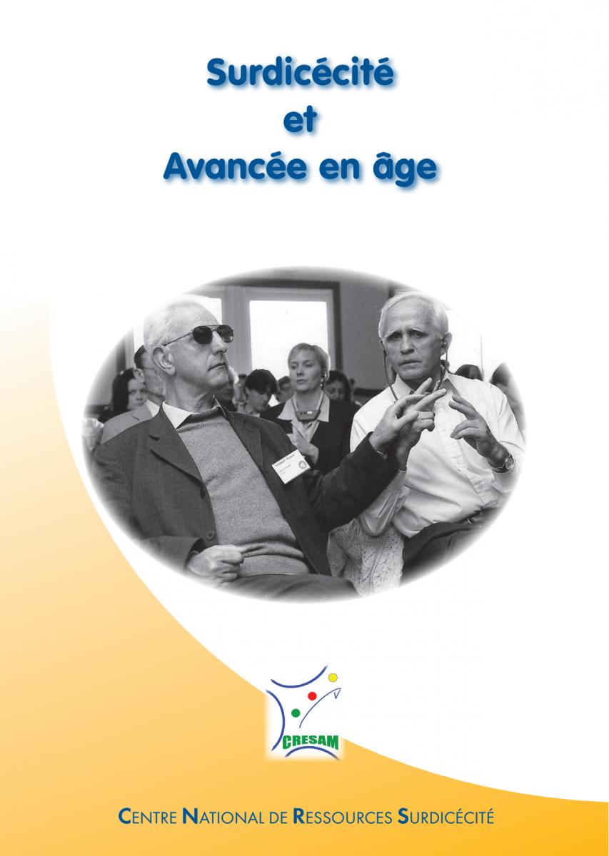 Couverture des actes du colloque Surdicécité et avancée en âge