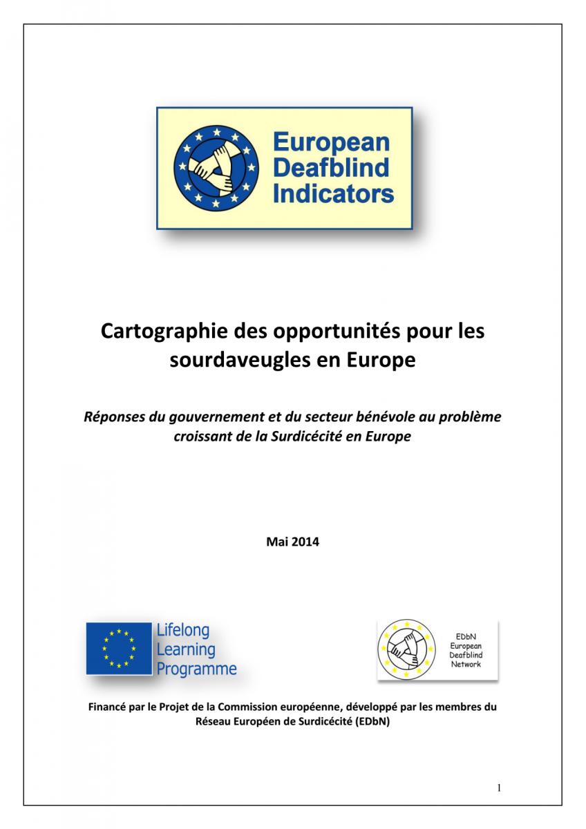Couverture de la publication : Cartographie des opportunités pour les sourdaveugles en Europe