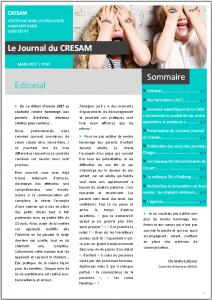 Couverture du Journal du Cresam - N°40 JUIN 2017